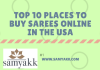 top ten webistes to buy sarees online in usa