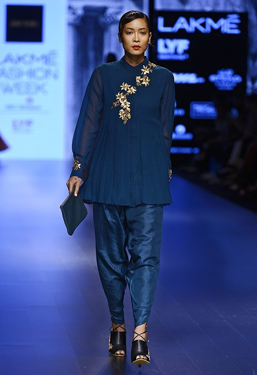Embellished-Royal-Blue-Pant-Set