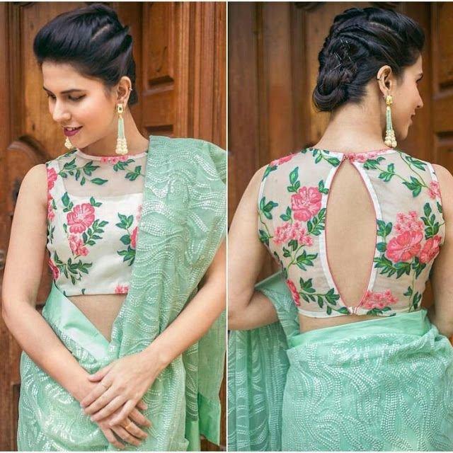 Floral Silk Designer Blouse