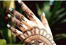 Artistic Back Hand Mehndi Design