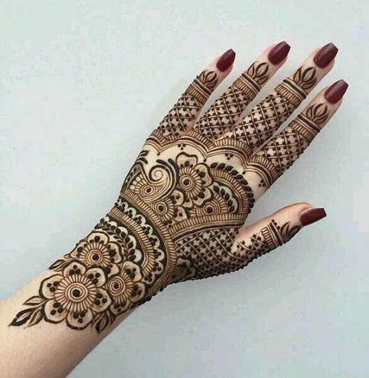 Back Hand Mehandi Design Arabic