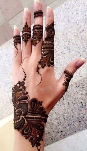 Beautiful Back Side Arabic Mehndi Design