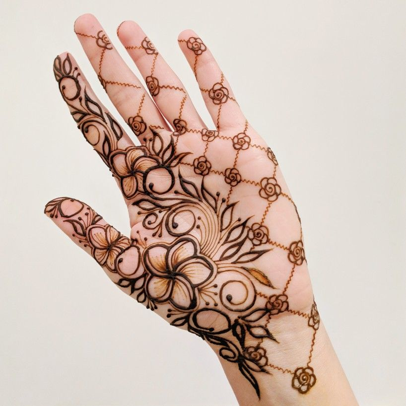 Beautiful and Easy Mehandi Arabic Design