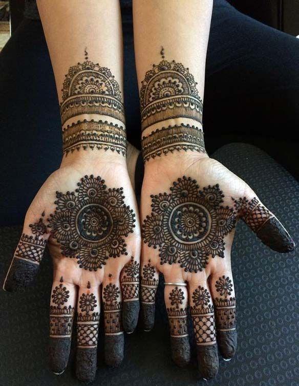 Exemplary Half Hand Arabic Mehndi Designs