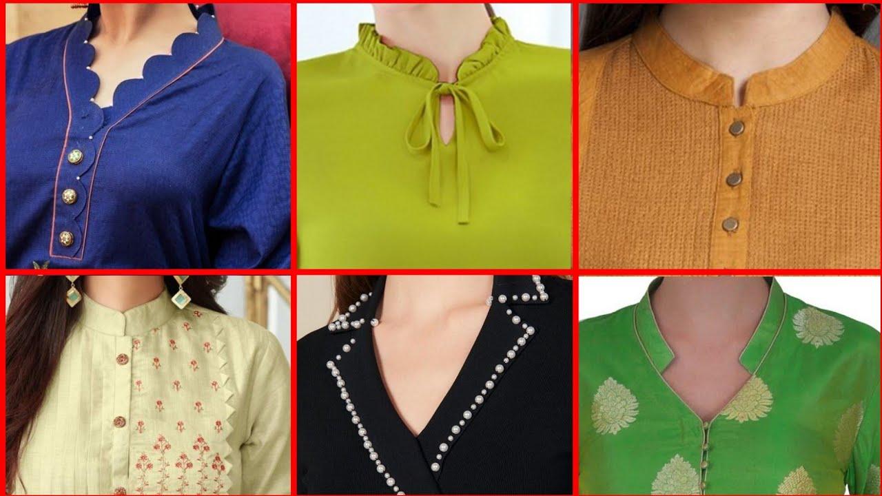 Collar Neck Kurti Design