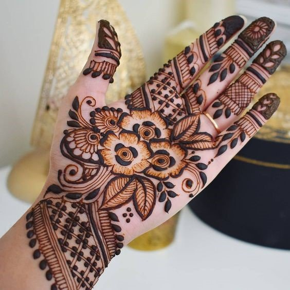 Colourful Mehndi Designs Arabic for Teenage Girls