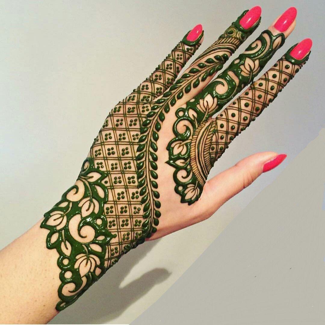 Complete Back Hand Arabic Mehndi Design