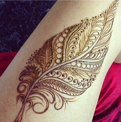 Feather Style Mehndi Design Arabic