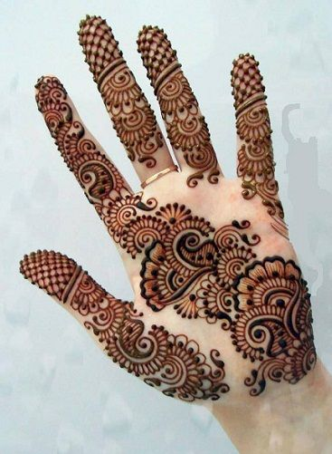Full Element Simple Arabic Mehndi Designs