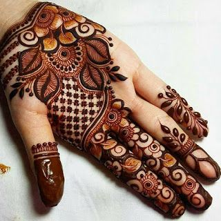 Full Hand Gulf-Arabic Mehndi Designs