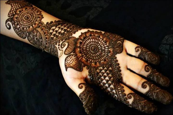 Highly Decorative Hand Mehendi Arabic Design