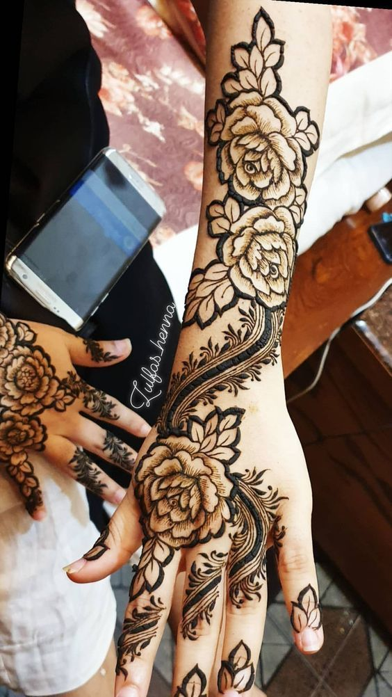Indo Arabic Style Mehndi Designs for Hands
