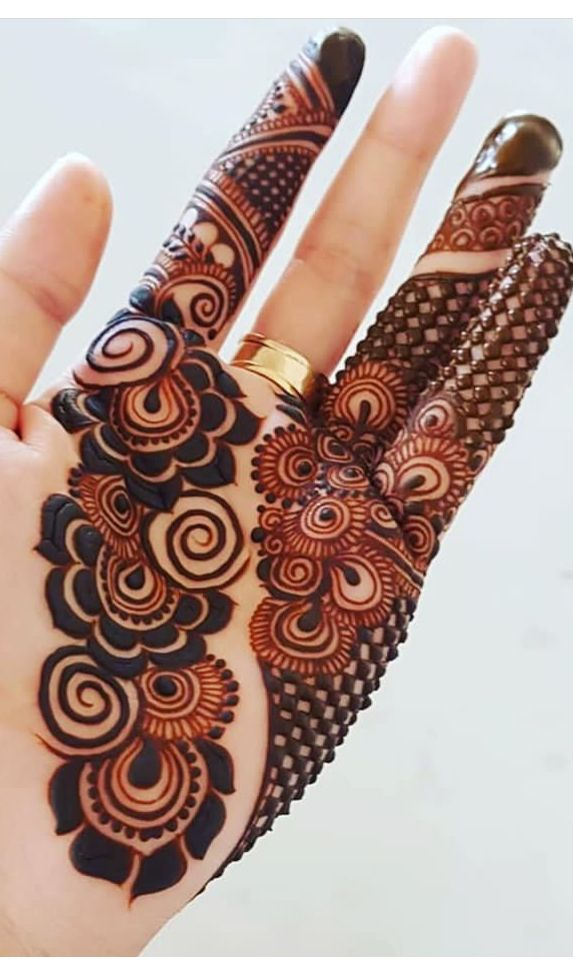 New Arabic Mehndi Design With Stones