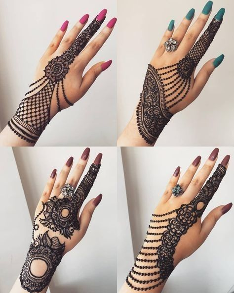 Only Wrist Mehandi Arabic Pattern