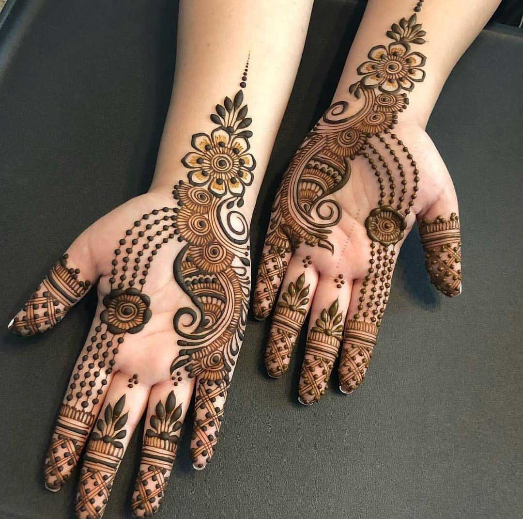 Simple Half Hand Arabic Mehendi Design