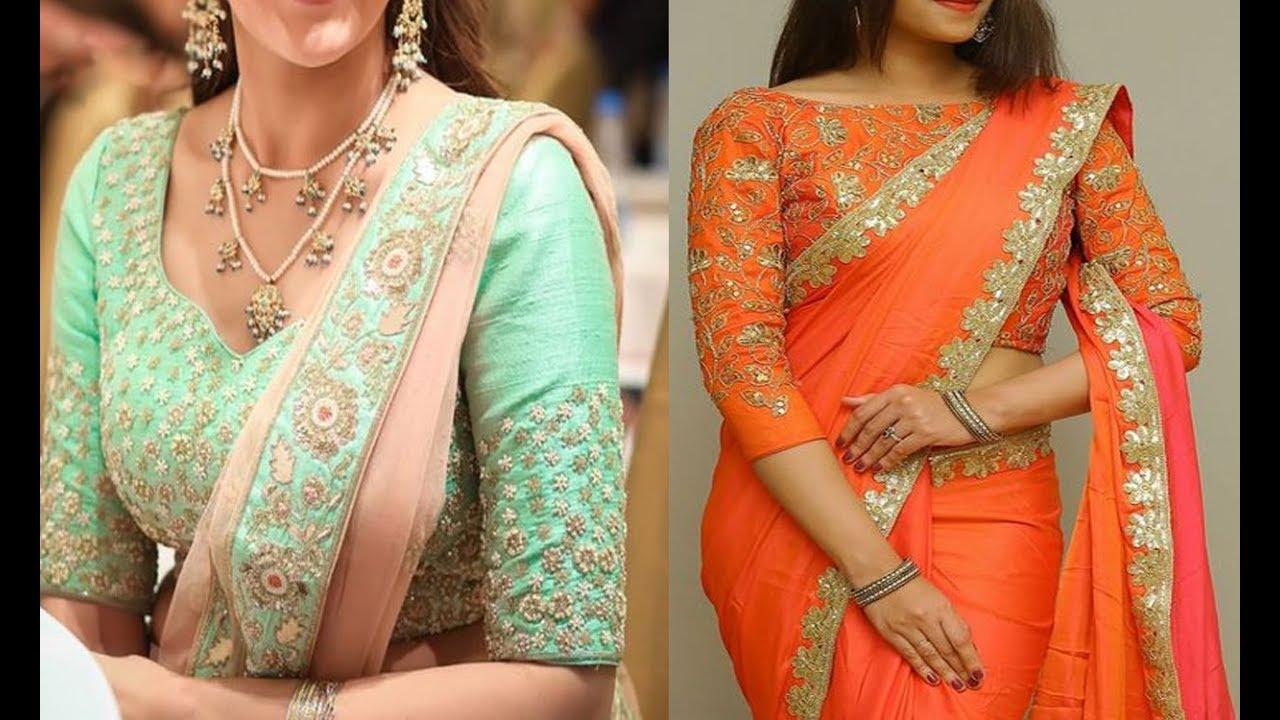 Simple and elegant saree blouses