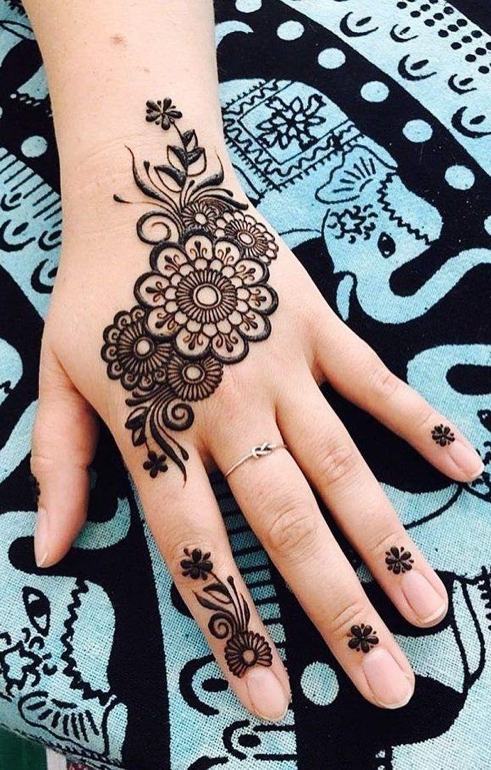 Tattoo Style Mehndi Design