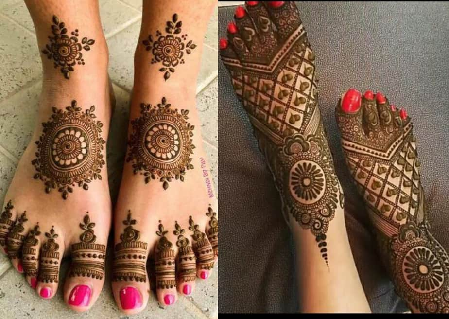 Traditional Arabic Full Leg Mehndi Design