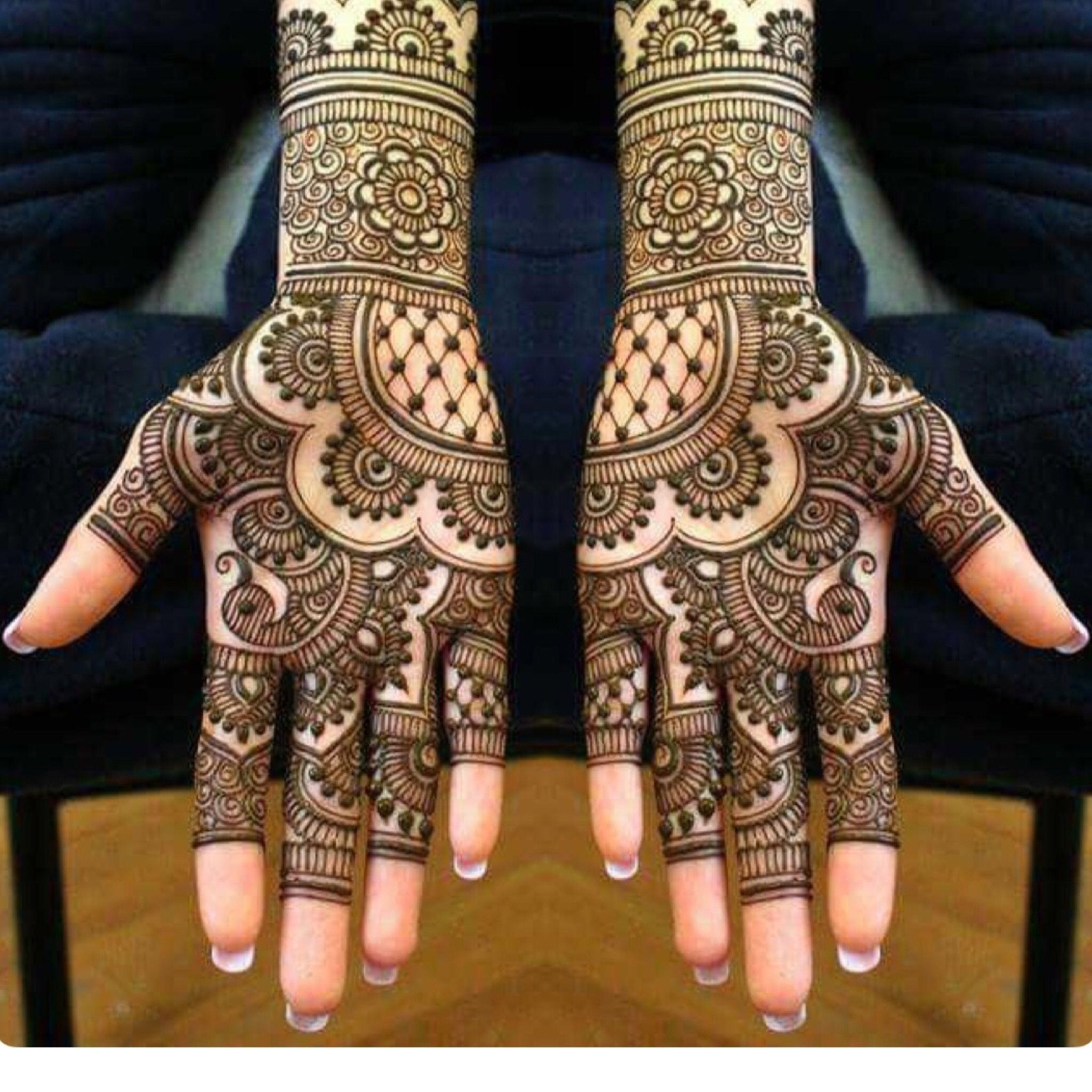 Unique Mehendi Arabic Design for Both Hands