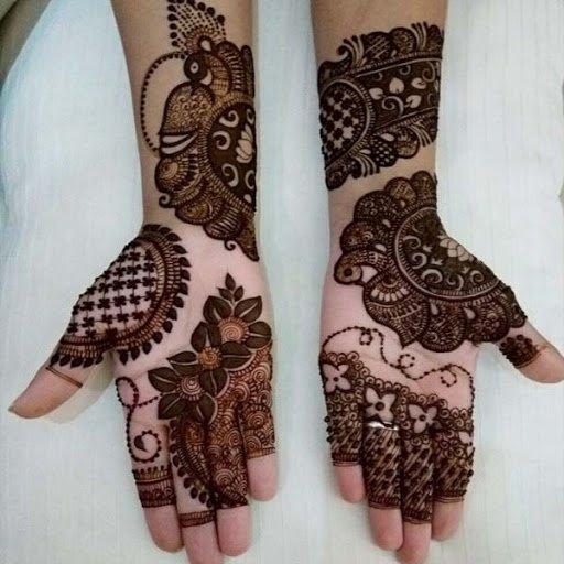 Unusual Hand Aztec Arabic Mehendi Pattern