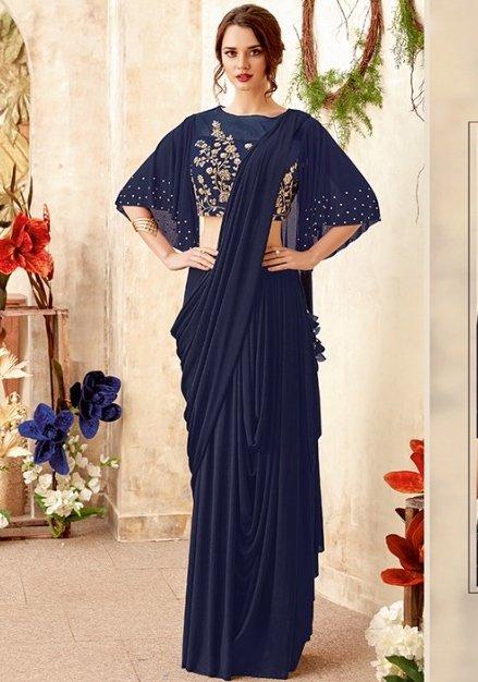 Cape saree style: