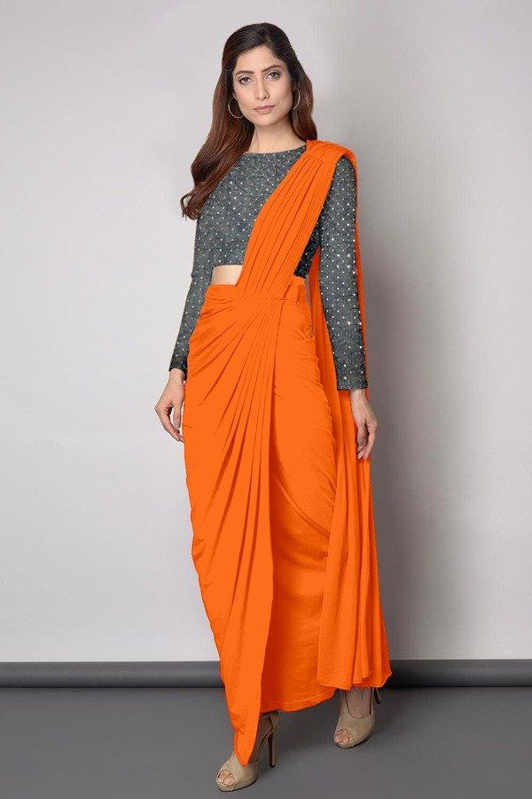 Dhoti style saree: