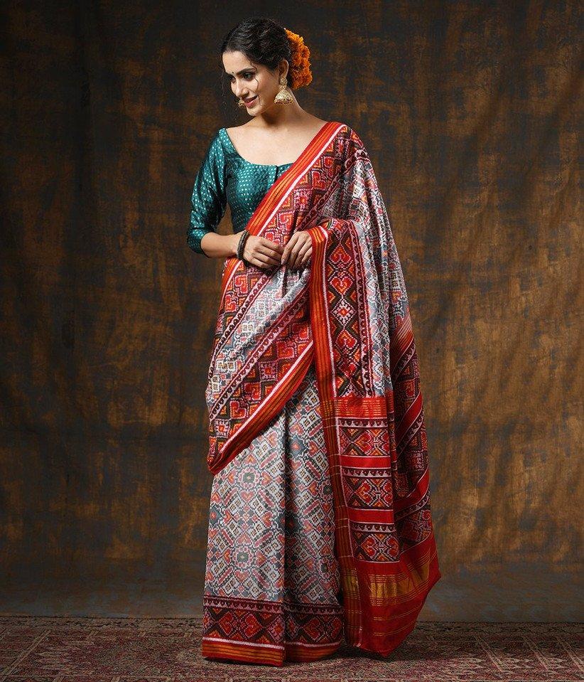 Gujarati style saree: