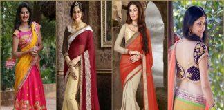 half n half saree online